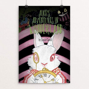 "Alice's Adventures in Wonderland by Tina Schofield 12"" by 18"" Print / Unframed Print Recovering the Classics"