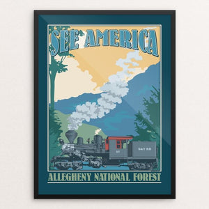 "Allegheny National Forest by Don Henderson 12"" by 16"" Print / Framed Print See America"