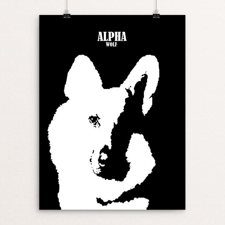 "Alpha Wolf by Bryan Bromstrup 18"" by 24"" Print / Unframed Print Join the Pack"