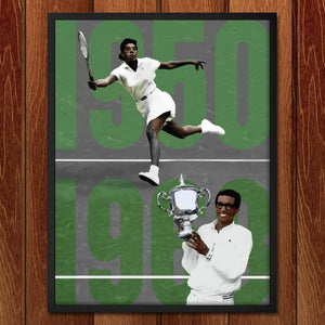 "Althea Gibson and Arthur Ashe, Tennis Pioneers  by Alexis Lampley 18"" by 24"" Print / Framed Print Transcend - Moments in Sports that Changed the Game"
