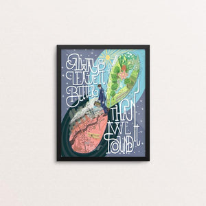"Always Leave It Better Than We Found It - The Green New Deal by Tina Schofield 8"" by 10"" Print / Framed Print Green New Deal"