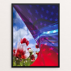 "America by Mac Titmus 12"" by 16"" Print / Framed Print What Makes America Great"