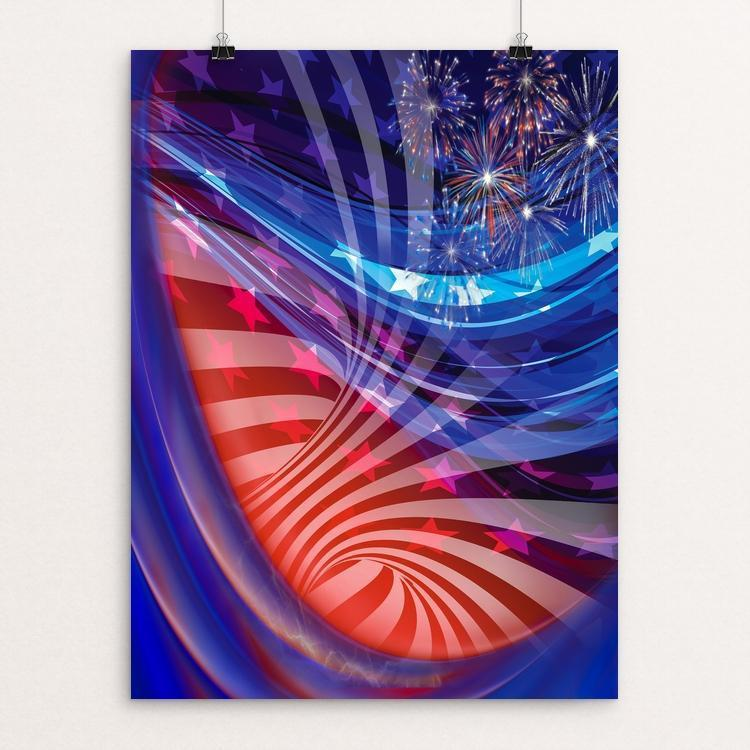 "America by Mac Titmus 12"" by 16"" Print / Unframed Print What Makes America Great"