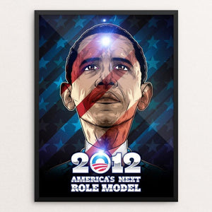 "America's Next Role Model by Roberlan Borges 12"" by 16"" Print / Framed Print Design for Obama"
