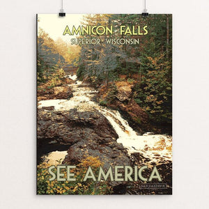 "Amnicon Falls State Park by Dan Gardiner 12"" by 16"" Print / Unframed Print See America"