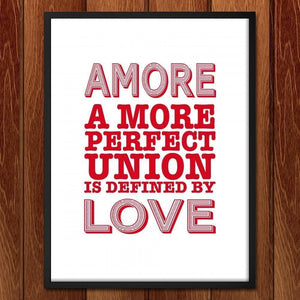 "Amore by C A Speakman 18"" by 24"" Print / Framed Print A More Perfect Union"