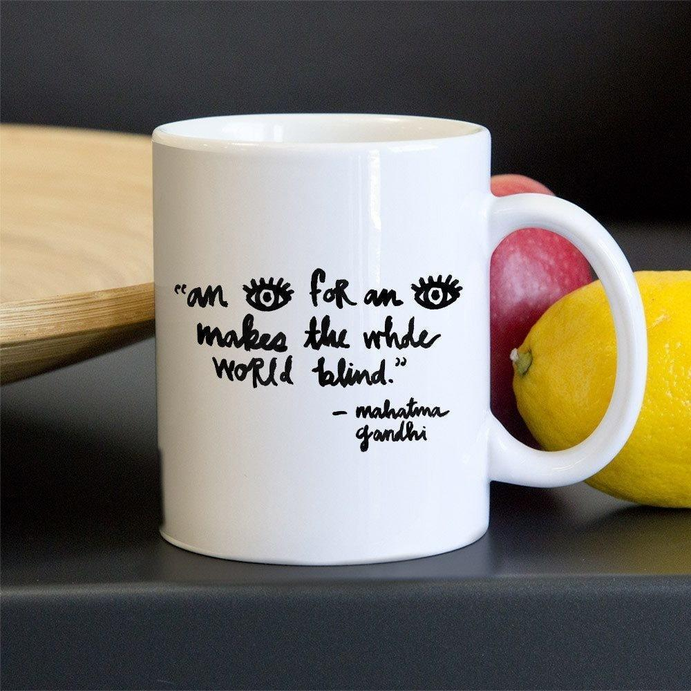 An Eye For An Eye Mug by Laura Worrick 11oz Mug The Gun Show