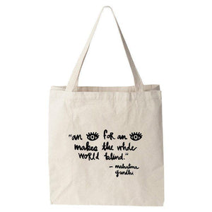 An Eye For An Eye Tote Bag by Laura Worrick Tote Bag The Gun Show