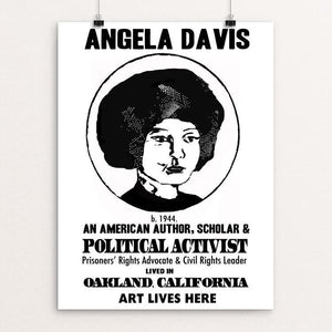 "Angela Davis by Lena Reynoso 12"" by 16"" Print / Unframed Print Art Lives Here"
