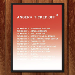 Anger, first in a series from New Math by Craig Damrauer