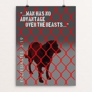 "Animal Rights: Not A New Concept by Bob Rubin 12"" by 16"" Print / Unframed Print Creative Action Network"