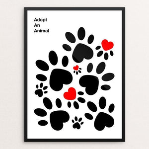 "Animalove by Ioannis Fetanis 12"" by 16"" Print / Framed Print Creative Action Network"