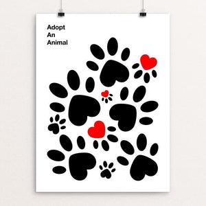 "Animalove by Ioannis Fetanis 12"" by 16"" Print / Unframed Print Creative Action Network"