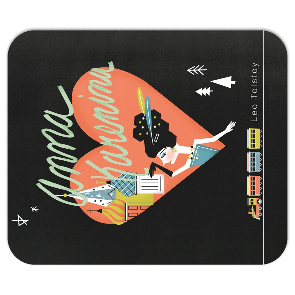 Anna Karenina Mousepad by Victoria Fernandez 7.79x9.25 inch Mousepad Recovering the Classics