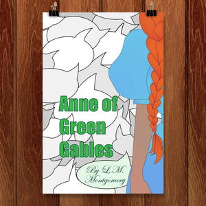 "Anne of Green Gables by Coral Nafziger 12"" by 18"" Print / Unframed Print Recovering the Classics"