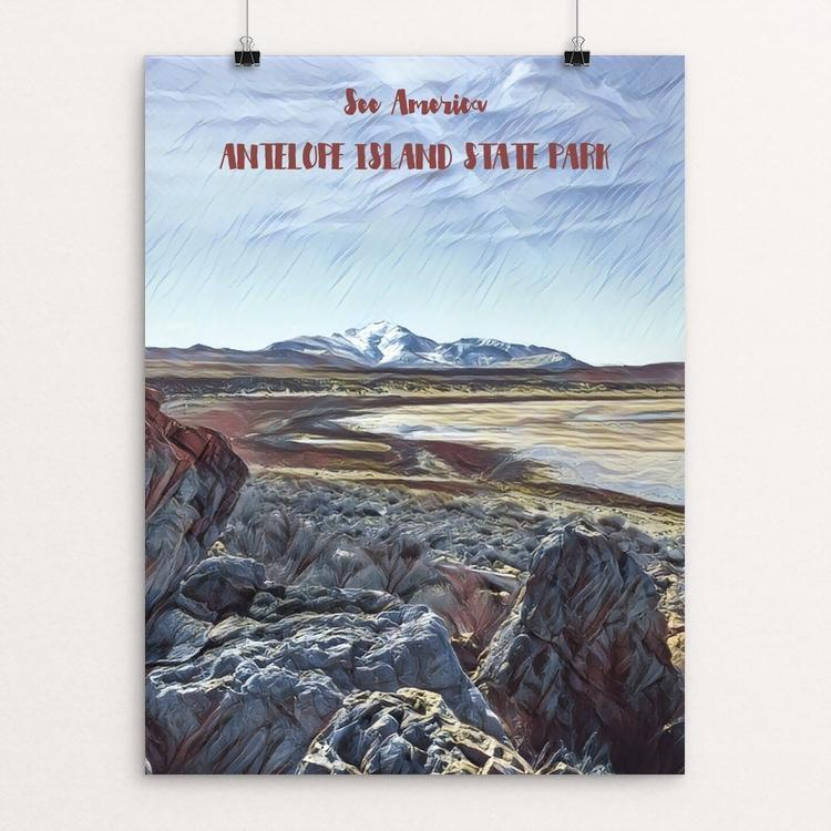 "Antelope Island State Park by Bryan Bromstrup 12"" by 16"" Print / Unframed Print See America"