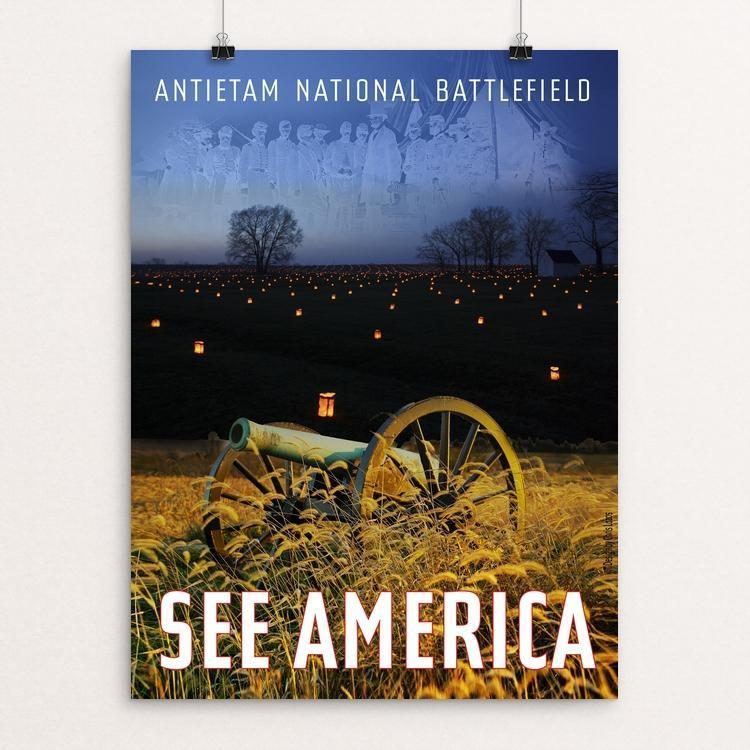 "Antietam National Battlefield by Chris Lozos 12"" by 16"" Print / Unframed Print See America"