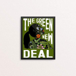 "AOC - Green New Deal by Brooke Fischer 8"" by 10"" Print / Framed Print Green New Deal"