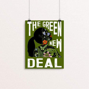 "AOC - Green New Deal by Brooke Fischer 8"" by 10"" Print / Unframed Print Green New Deal"
