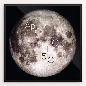 "Apollo 11 50th Anniversary by Katarina Eriksson 12"" by 12"" Print / Framed Print Space Horizons"