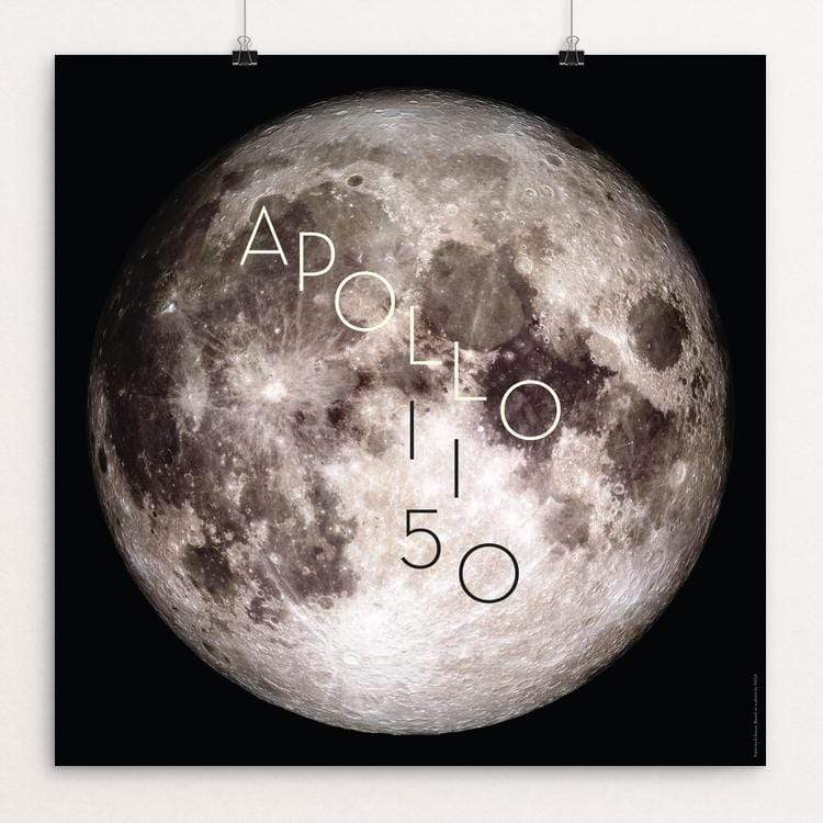 "Apollo 11 50th Anniversary by Katarina Eriksson 12"" by 12"" Print / Unframed Print Space Horizons"