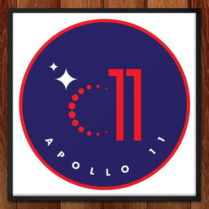 "Apollo 11 by Ioannis Fetanis 12"" by 12"" Print / Framed Print Space Horizons"