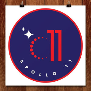 "Apollo 11 by Ioannis Fetanis 12"" by 12"" Print / Unframed Print Space Horizons"