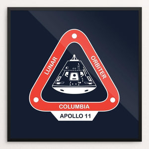 "Apollo 11 by Simeon Fry 12"" by 12"" Print / Framed Print Space Horizons"