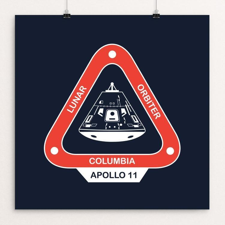 "Apollo 11 by Simeon Fry 12"" by 12"" Print / Unframed Print Space Horizons"