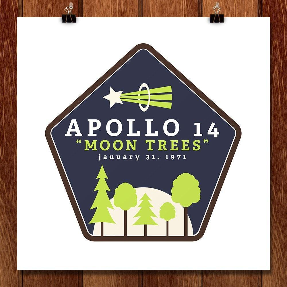 "Apollo 14 ""Moon Trees"" by Kailee McMurran, Design by Goats 12"" by 12"" Print / Unframed Print Space Horizons"