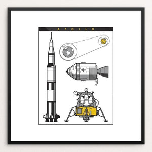 "Apollo Mission by Steve Morris 12"" by 12"" Print / Framed Print Space Horizons"