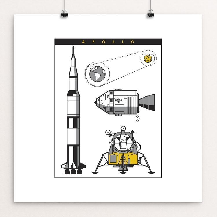 "Apollo Mission by Steve Morris 12"" by 12"" Print / Unframed Print Space Horizons"