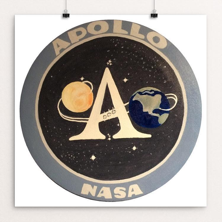 "Apollo Mission Program Patch by Bryan Bromstrup 12"" by 12"" Print / Unframed Print Space Horizons"