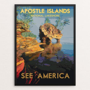 "Apostle Islands National Lakeshore 2 by Dan Gardiner 12"" by 16"" Print / Framed Print See America"