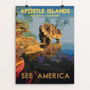 "Apostle Islands National Lakeshore 2 by Dan Gardiner 12"" by 16"" Print / Unframed Print See America"