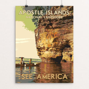 "Apostle Islands National Lakeshore by Dan Gardiner 12"" by 16"" Print / Unframed Print See America"