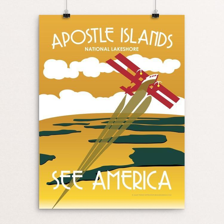 "Apostle Islands National Lakeshore by Jamey Penney-Ritter 12"" by 16"" Print / Unframed Print See America"