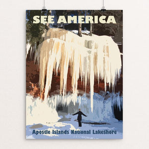 "Apostle Islands National Lakeshore by Marshia Crowley 12"" by 16"" Print / Unframed Print See America"