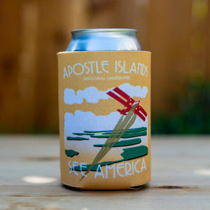 Apostle Islands National Lakeshore Koozie by Jamey Penney-Ritter Can Koozie Koozie See America