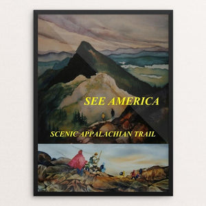 "Appalachian National Scenic Trail 2 by Marni Lawson 12"" by 16"" Print / Framed Print See America"