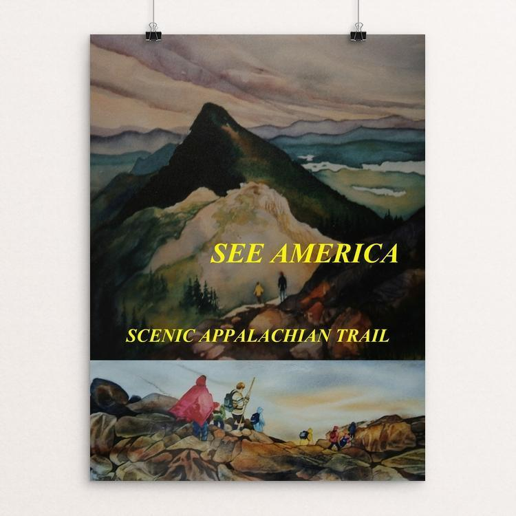 "Appalachian National Scenic Trail 2 by Marni Lawson 12"" by 16"" Print / Unframed Print See America"