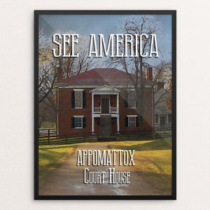 "Appomattox Court House National Historical Park 1 by David Wooldridge 12"" by 16"" Print / Framed Print See America"