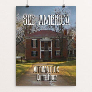 "Appomattox Court House National Historical Park 1 by David Wooldridge 12"" by 16"" Print / Unframed Print See America"