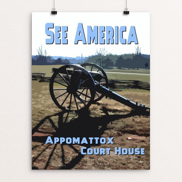"Appomattox Court House National Historical Park 2 by David Wooldridge 12"" by 16"" Print / Unframed Print See America"