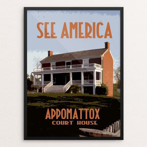 "Appomattox Court House National Historical Park 3 by David Wooldridge 12"" by 16"" Print / Framed Print See America"