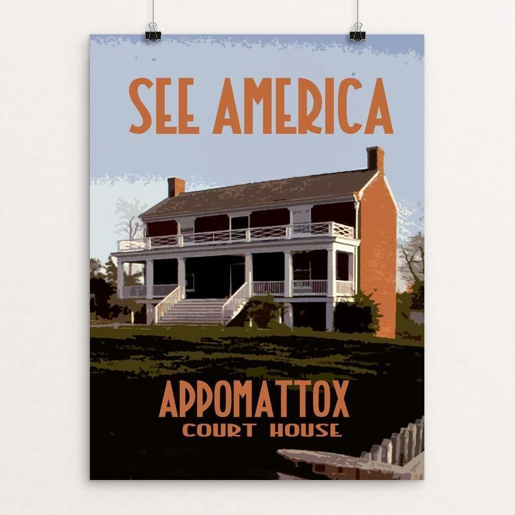 "Appomattox Court House National Historical Park 3 by David Wooldridge 12"" by 16"" Print / Unframed Print See America"