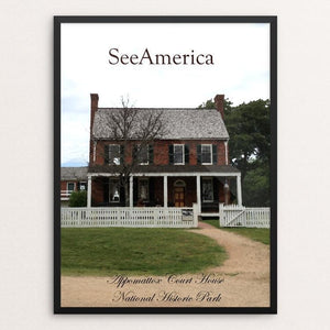 "Appomattox Court House National Historical Park by Nathan 12"" by 16"" Print / Framed Print See America"