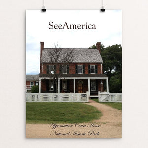 "Appomattox Court House National Historical Park by Nathan 12"" by 16"" Print / Unframed Print See America"