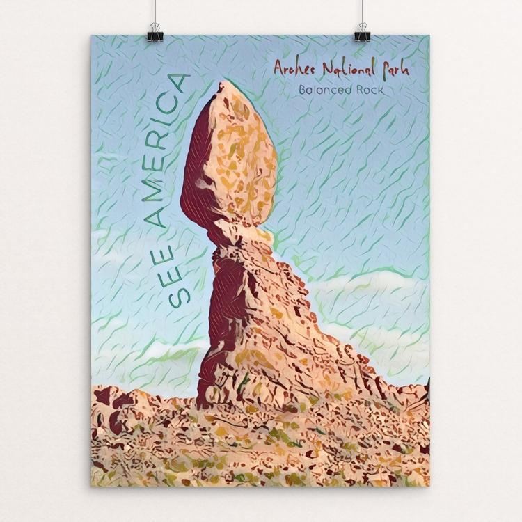 "Arches Balanced Rock by Bryan Bromstrup 12"" by 16"" Print / Unframed Print See America"