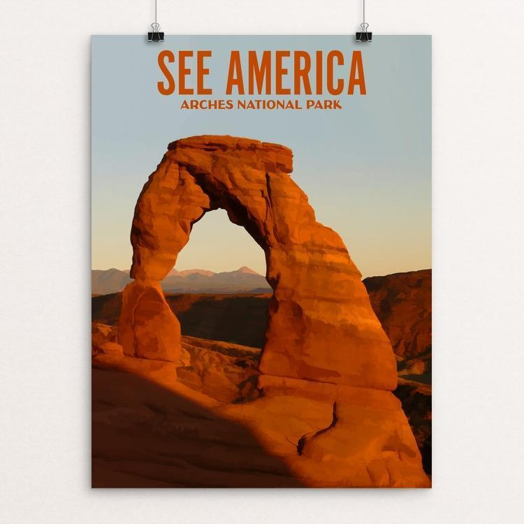 "Arches National Park by Ike Loveland 12"" by 16"" Print / Unframed Print See America"